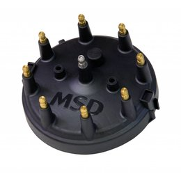 MSD Ignition Distributor Cap, Ford HEI, Black