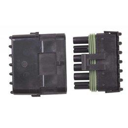 MSD Ignition Stekker 6-pins Weathertight, per stuk
