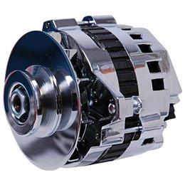 MSD Dynaforce Dynaforce Chrome GM CS130 120 amps, V-belt Pulley Internal Regulator
