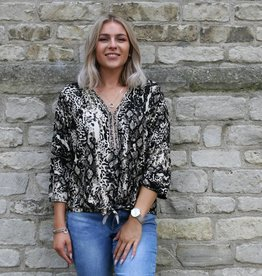 Print Top Zwart Wit