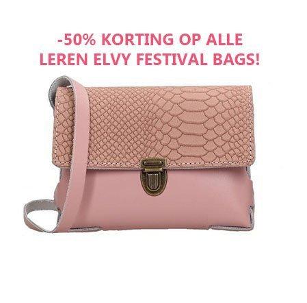 Sale Elvy Leren Tassen