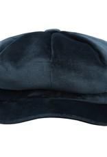 Dames Velvet Cap Blauw