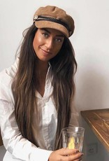 Dames Sailor Cap Rib Bruin