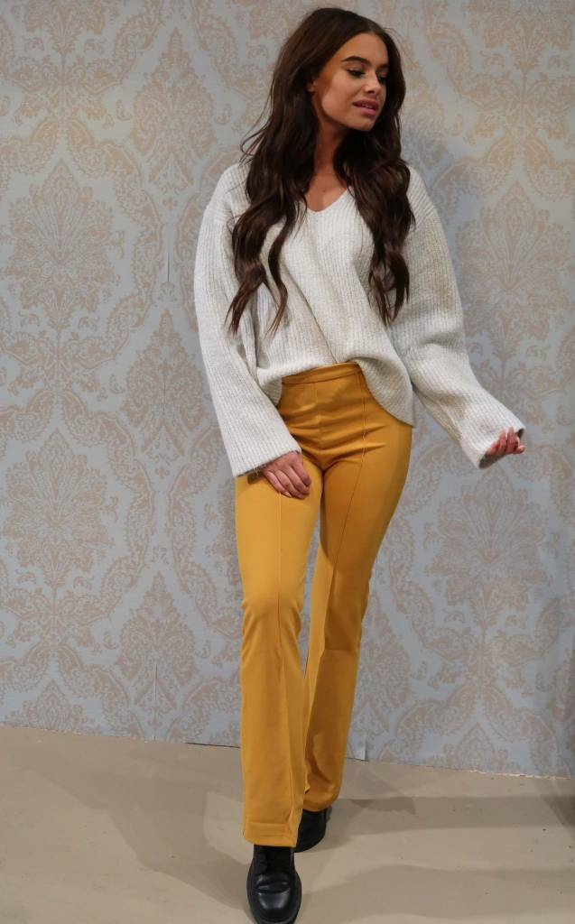 Flared Pants Okergeel