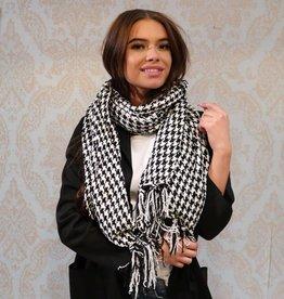 Dames Sjaal Zwart Wit