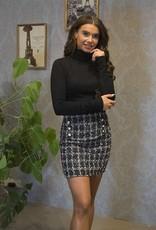 Tweed Rokje Zwart