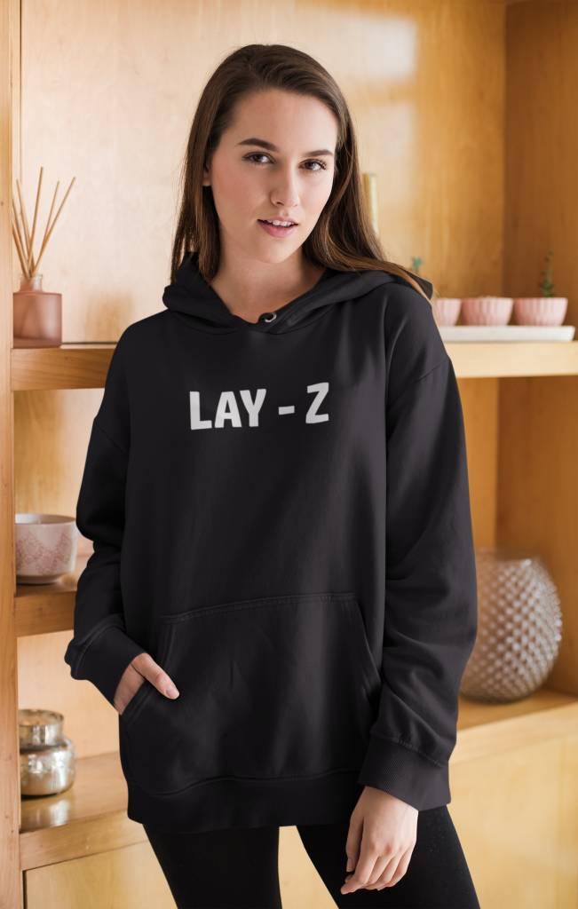 Dames Oversized Sweater Tekst Laz-y