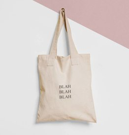 Tote Bag Tekst Blah Blah Blah