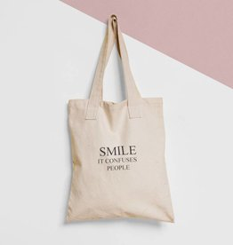 Tote Bag Tekst: Smile
