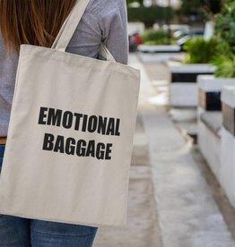 Canvas Tas Tekst Emotional Baggage