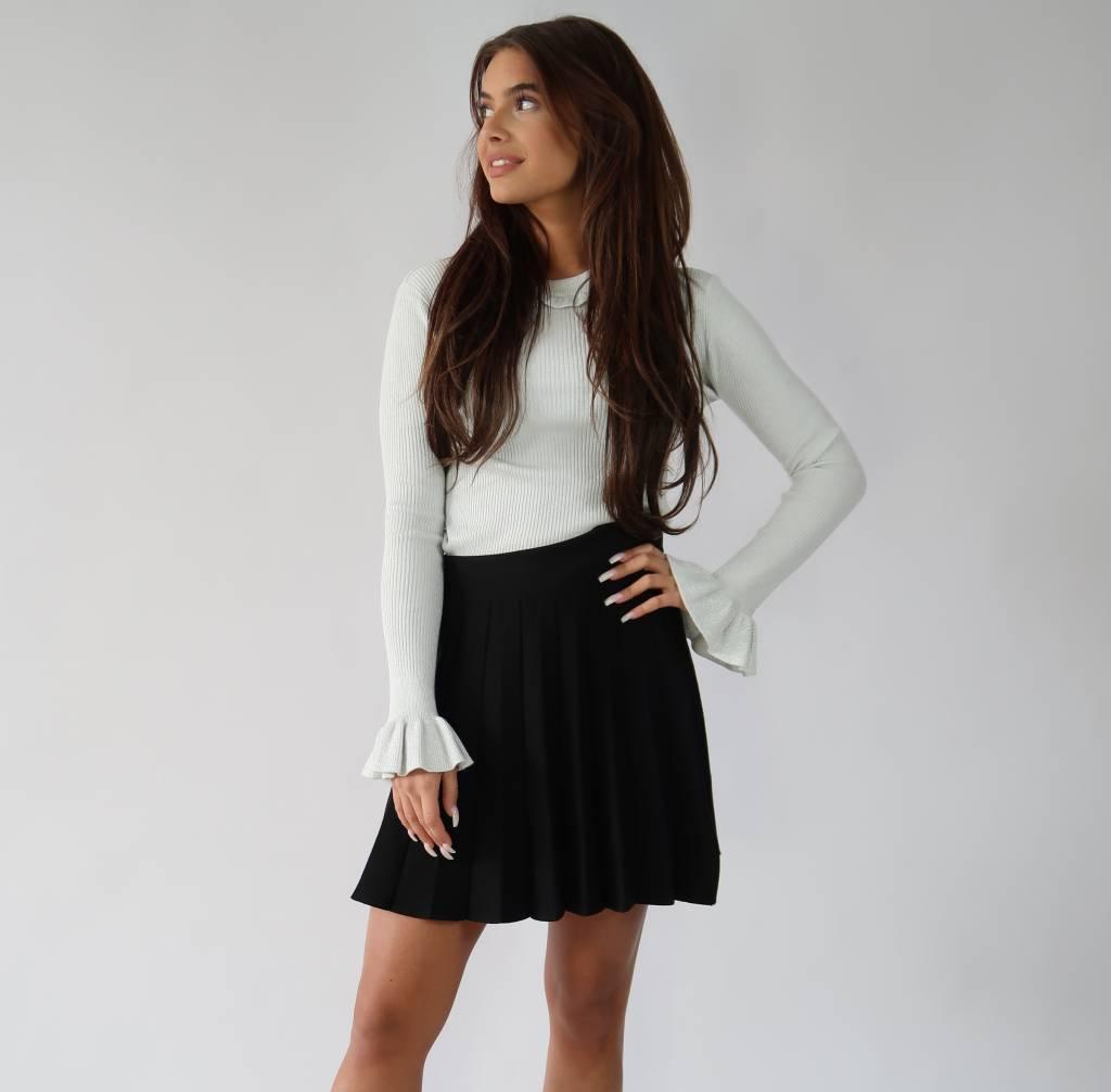 ffe630e8060215 Alijn Rokje Zwart - Ibizi Fashion