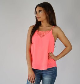 Basic Top Kant Neon Roze