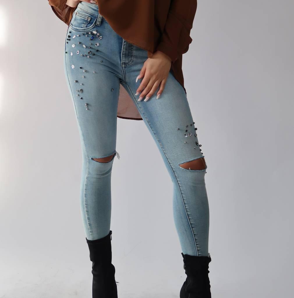 Dames Spijkerbroek Lichtblauw