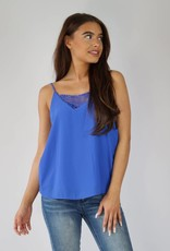 Basic Top Blauw Kant