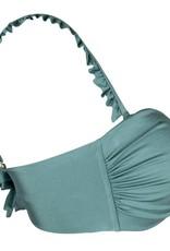 Boho Bikini Ruffle Strap Green