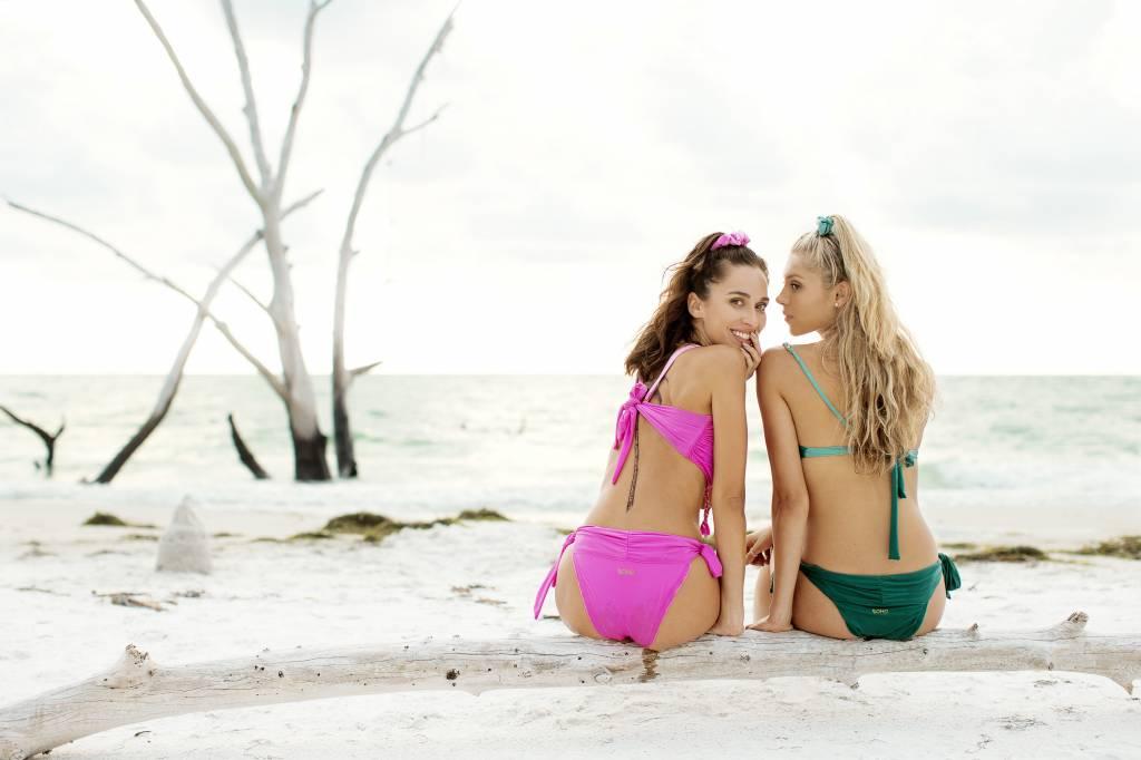 Boho Bikini Scrunchie Charcoal