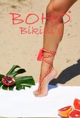 Boho Bikini Ribbon Red