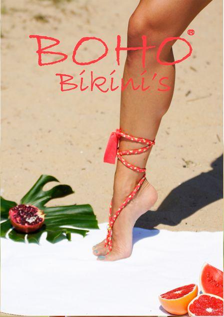 Boho Bikini Ribbon Mint