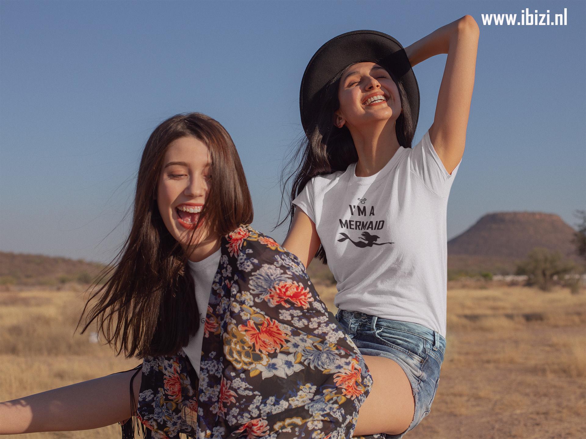 Dames Festival T-Shirt Tekst - Tees - Quote