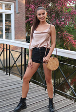 Denim Shorts Dames Zwart