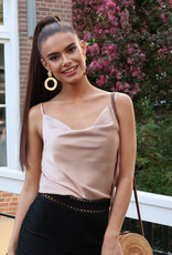 Satin Top Roze