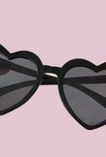 Zonnebril Hartjes Zwart