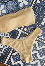 Bandeau Bikini Glitter Goud