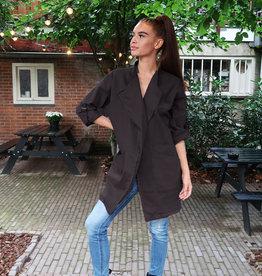 Dames Oversized Jacket Zwart