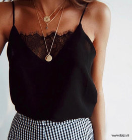 Top Zwart  Basic Lace