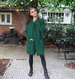 Dames Vest Lang Oversized Groen