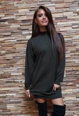 Dames Sweater Dress Army