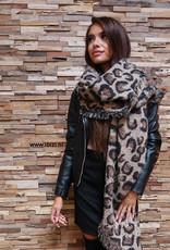 Sjaal Leopard Warm