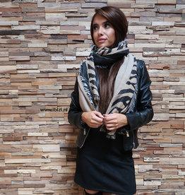 Dames Winter Sjaal Print Leopard