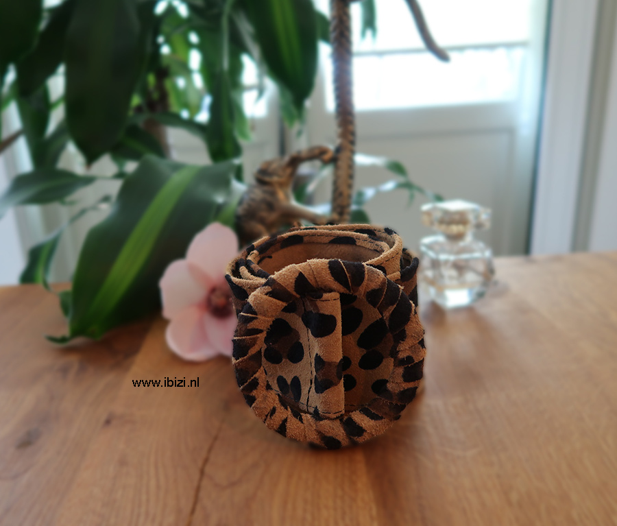 Suede Riem Leopard