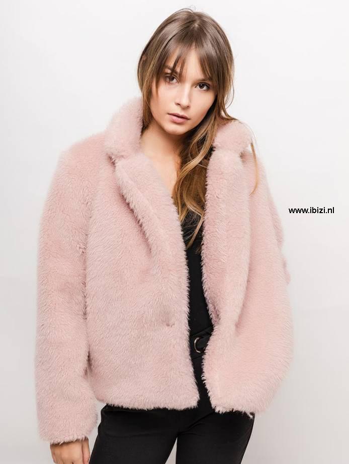 Roze Dames Jas Combineren  - Trend 2019