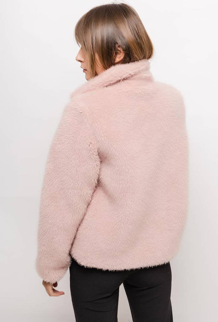 Oversized Teddy Pink in 2020 Winterjassen, Roze jassen en