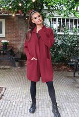 Dames Oversized Vest Rood