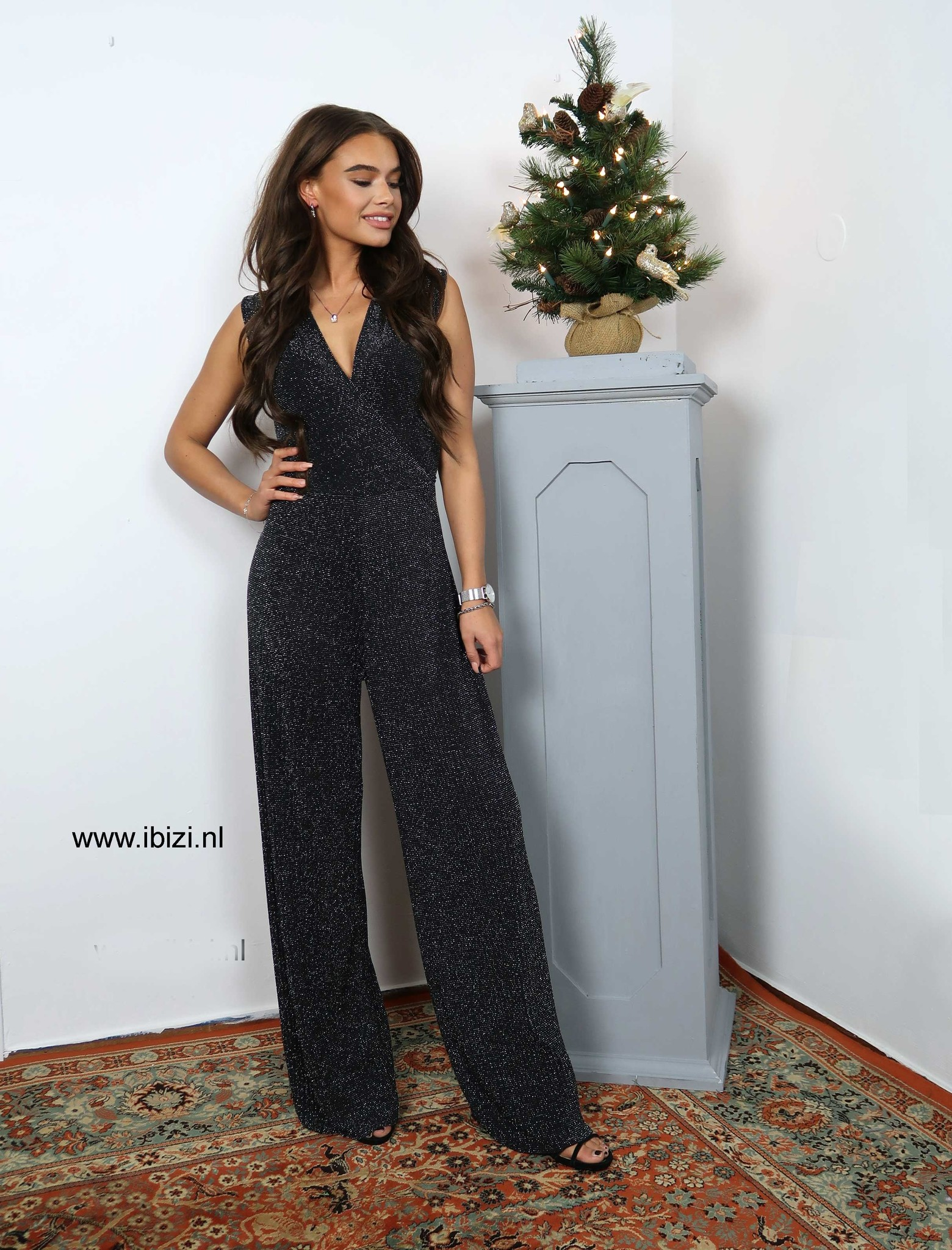 Jumpsuit Glitter Zwart - Party Collectie