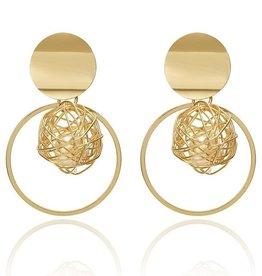 Gouden Pearl Oorbellen