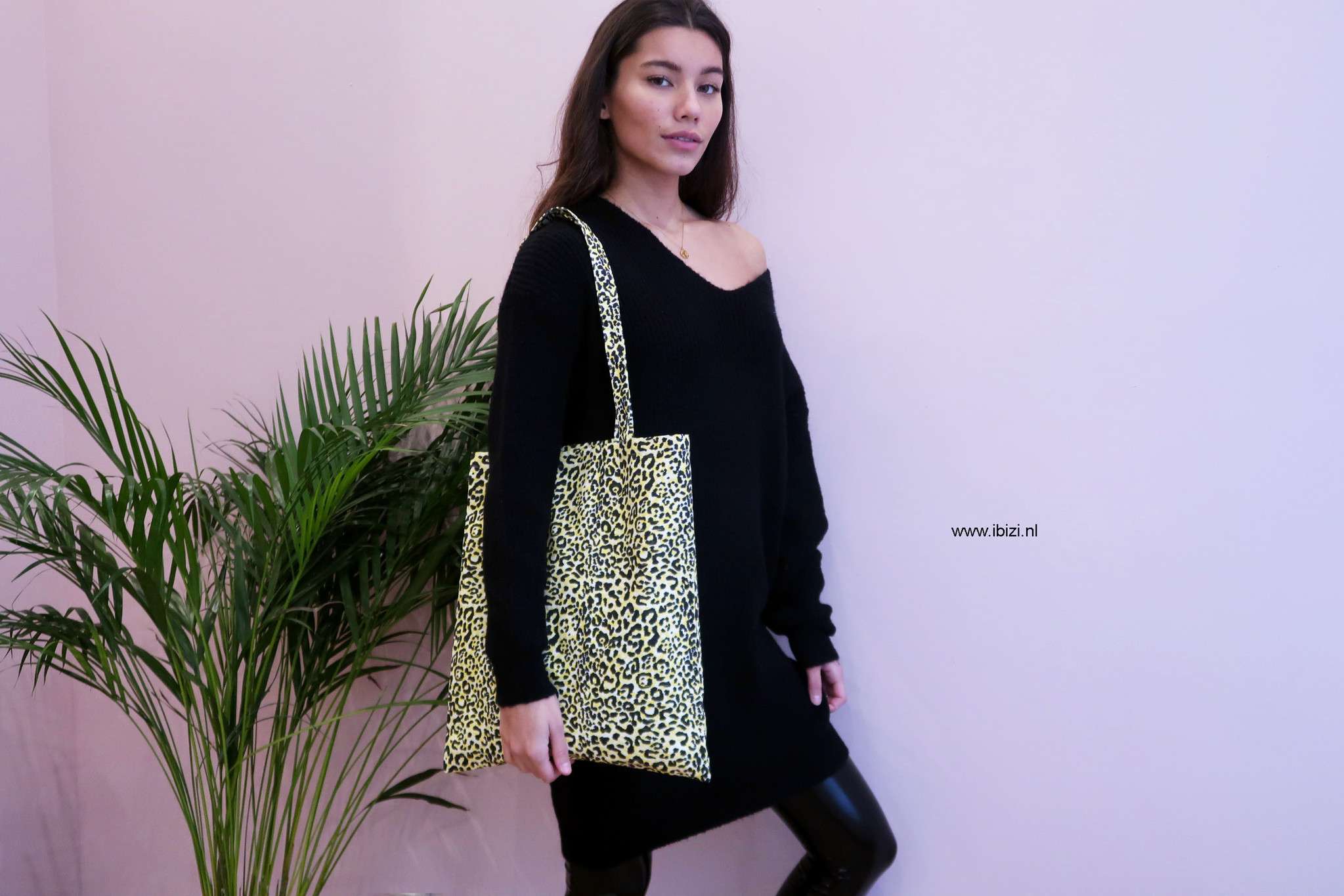 Leopard Print Tas - Tote