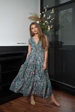 Maxi Dress Paisley Print Blauw