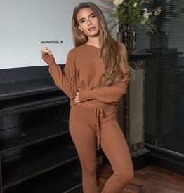 Loungewear Set Dames Camel