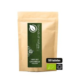 Brands of Nature Chlorella 500 tabletten (500mg)