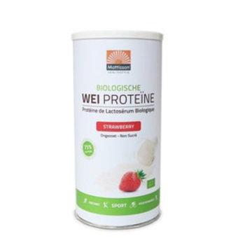 Mattisson Wei Proteïne Aardbei Biologisch, 450 gram