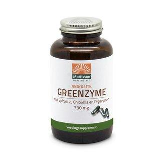 Mattisson GreenZyme - met Spirulina, Chlorella en Digezyme™ 730 mg