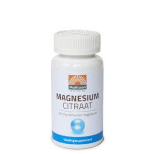 Mattisson Magnesiumcitraat 200 mg elementair magnesium