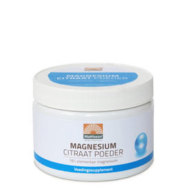 Mattisson Magnesium Citraat Poeder 16% elementair magnesium