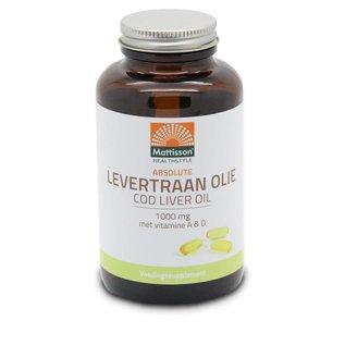 Mattisson Levertraanolie / Codliver Oil 1000 mg met vit. A&D