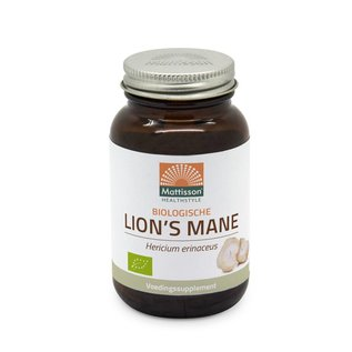 Mattisson Lion's Mane 500mg v-caps Biologisch