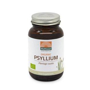 Mattisson Psyllium Husk (Plantago ouata) 750mg v-caps Biologisch